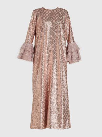 Dima Ayad - Sequined Long Sleeve Kaftan