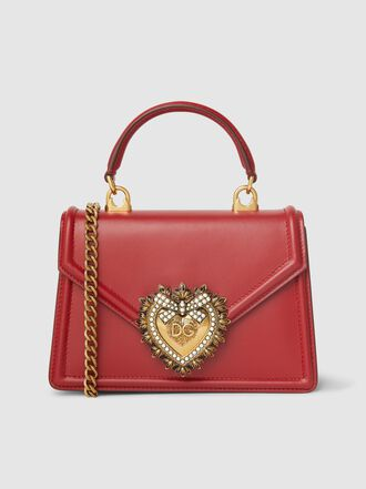 Dolce & Gabbana - Devotion Mini Embellished Leather Top Handle Bag