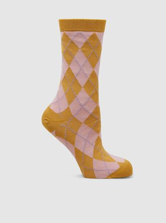 Baum und Pferdgarten - Leikin Checked Cotton Ankle Socks