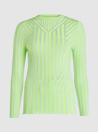 CAP - Elisabeth Graphic Knit Viscose Top