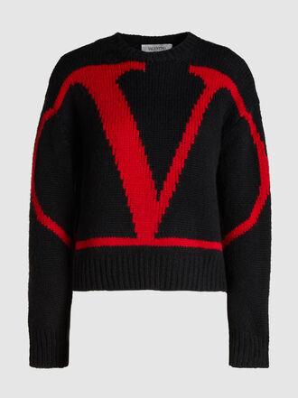 Valentino - Iconic Logo Alpaca Wool-Blend Jumper