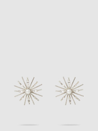 ERICKSON BEAMON - Starry Eyed Crystal and Faux Pearl Earrings