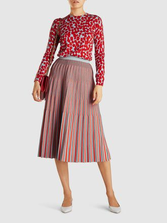 Proenza Schouler - Knitted Jacquard Wool Midi Skirt