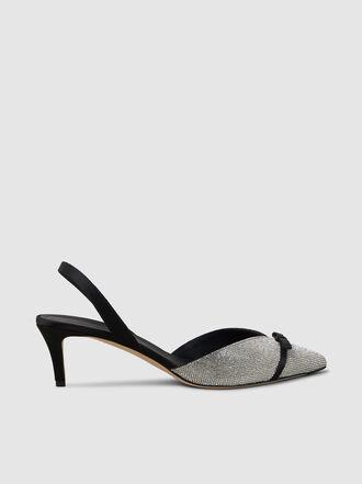 Marco de Vincenzo - Embellished Bow Strap Slingback Pumps