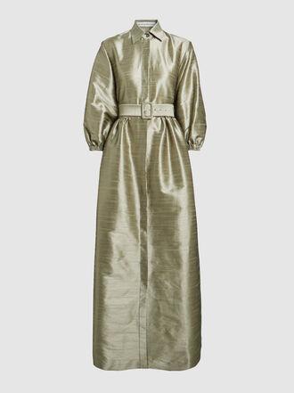 Bouguessa - Long Sleeve Belted Kaftan