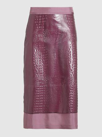 SIES MARJAN - Sula Snake-Skin Embossed Print A-Line Skirt