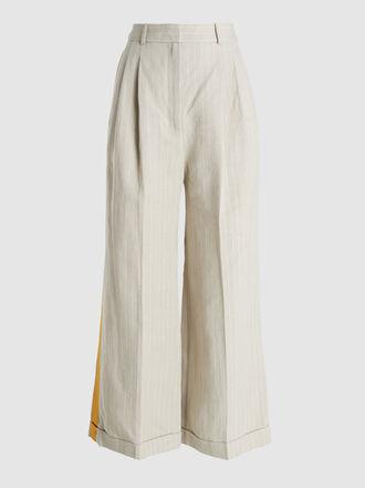Racil - Agadir Striped Wide-Leg Linen Trousers