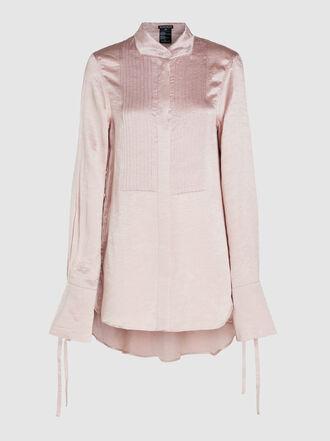 Ann Demeulemeester - Long Sleeve Hammered Satin Shirt