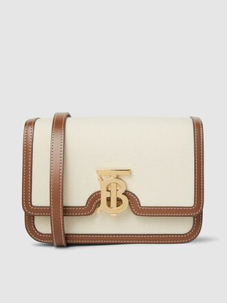 Burberry - TB Monogram-Buckle Canvas Small Shoulder Bag