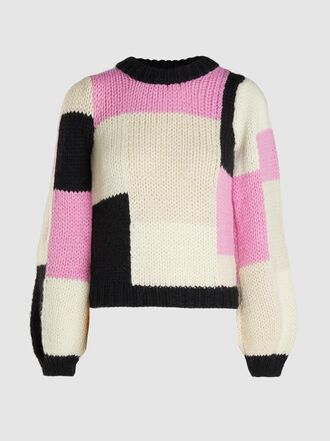 Ganni - Colour-Block Merino Wool and Alpaca-Blend Sweater