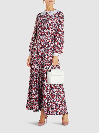 Gül Hürgel - Lace-Trimmed Floral-Print Crepe Maxi Dress