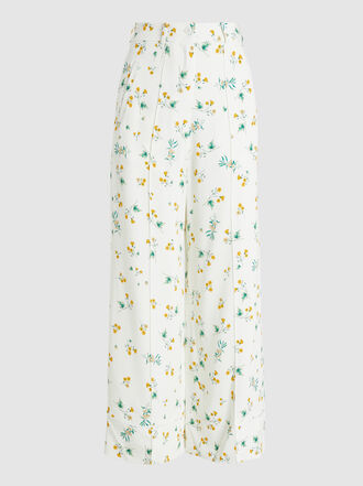 Racil - Desert Floral-Print Crepe Wide-Leg Trousers