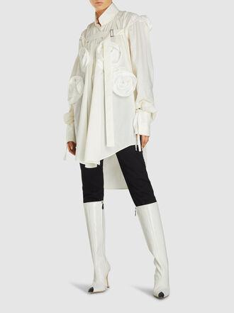 Ann Demeulemeester - Flower Long Sleeve Cotton Shirt