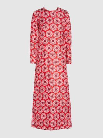 La DoubleJ - Printed Long Sleeve Silk Gospel Dress