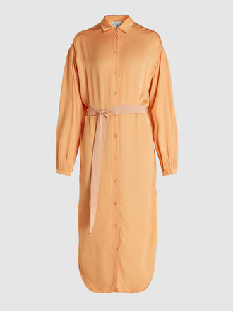 forte_forte - Button Front Midi Viscose Shirt Dress