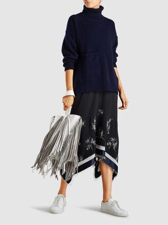 Proenza Schouler - Hex Medium Fringed Hex Leather Bucket Bag