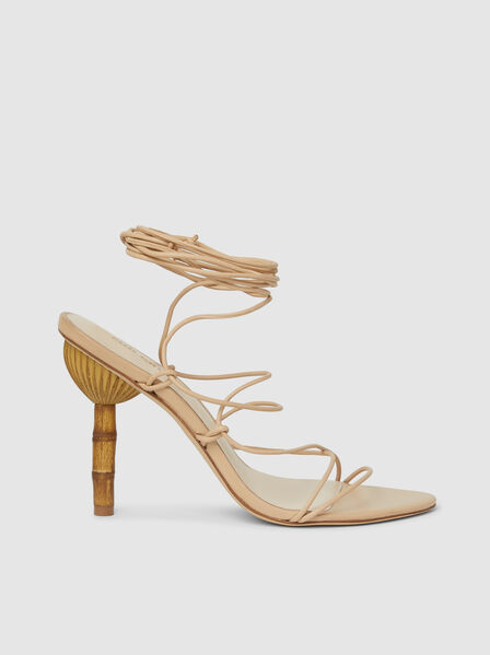 Cult Gaia - Soleil Ankle-Tie Leather Sandals