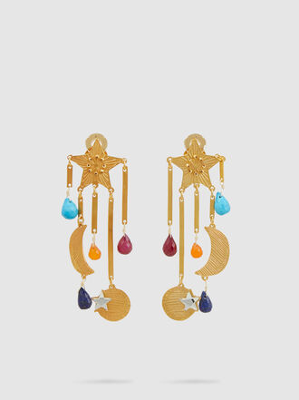 Mercedes Salazar - Magic Star Gold-Tone Crystal Earrings