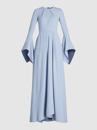 ROLAND MOURET - Raines Stretch Viscose Maxi Dress