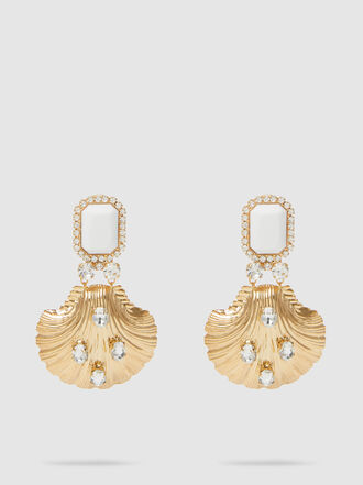 Alessandra Rich - Shell Pendant Drop Earrings