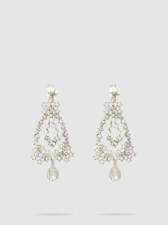 ERICKSON BEAMON - Crystal and Faux Pearl Drop Pendant Earrings