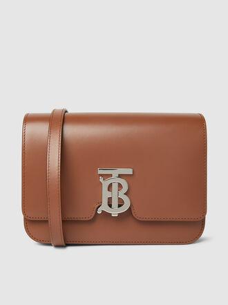 Burberry - TB Monogram-Buckle Leather Shoulder Bag