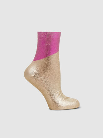 Maria La Rosa - Metallic Silk-Blend Socks