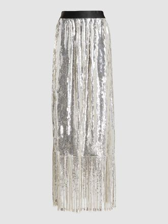 Rachel Comey - Treadlight Sequin-Fringed Maxi Skirt