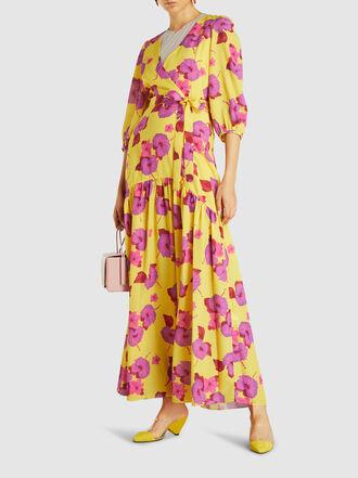 Borgo de Nor - Salma Printed Crepe Wrap Maxi Dress