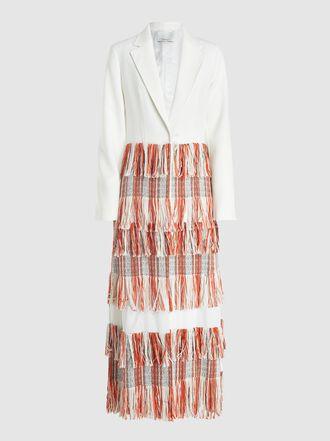 3.1 Phillip Lim - Fringed Tailored Longline Blazer
