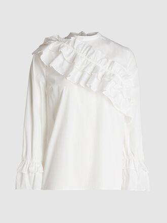 Baum und Pferdgarten - Moya Ruffled Cotton-Blend Top