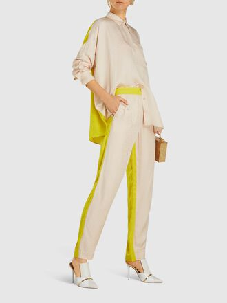 LAYEUR - Rosaline Two-Tone Tapered Trousers