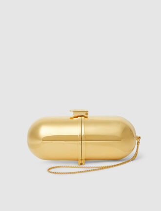 Marzook - Pill-Shaped Gold-Tone Bag