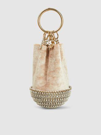 Rosantica - Ghizlan Velvet and Crystal Pouch Bag