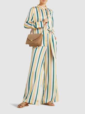 Asceno - Striped Silk Pyjama Shirt