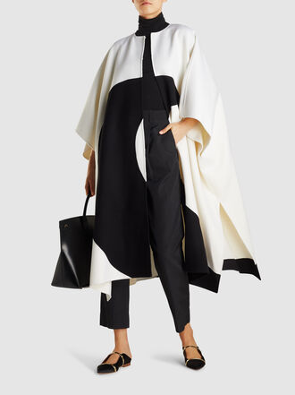 Valentino - Moon Print Wool-Blend Cashmere Cape