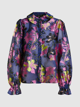 Stine Goya - Autumn Floral-Print Sheer Shirt