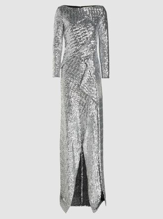 ROLAND MOURET - Sarandon Pleated Sequinned Gown