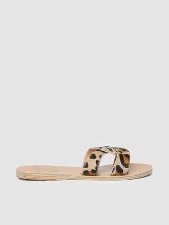 Ancient Greek Sandals - Desmos Leopard Print Leather Sandals