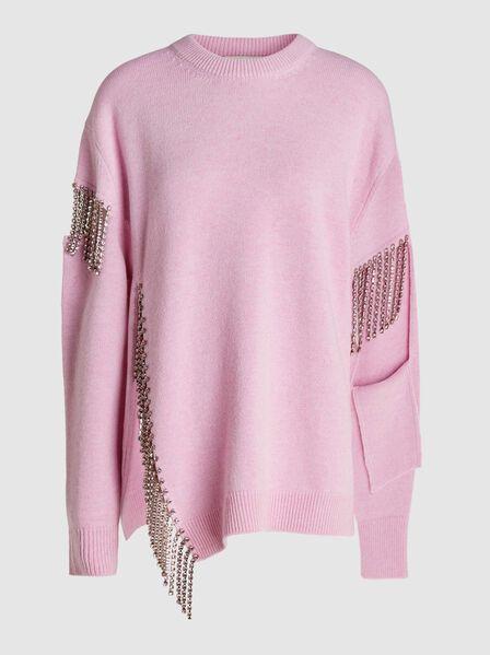 Christopher Kane - Crystal-Embellished Cutout Wool Sweater
