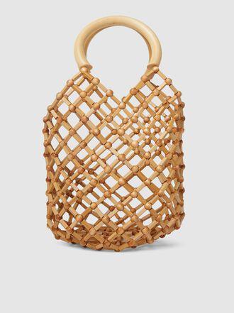 Cult Gaia - Emmie Bamboo Net Bucket Bag