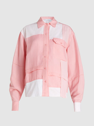 JW Anderson - Patchwork Panelled Twill Shirt