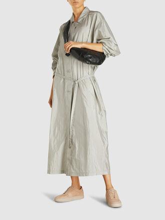 Lemaire - Croissant Panelled Leather Shoulder Bag
