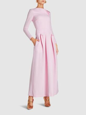 ROLAND MOURET - Eady Double Wool Crepe Maxi Dress