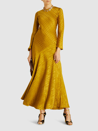 LAYEUR - Cecilia Asymmetrical Bias Crepe Dress