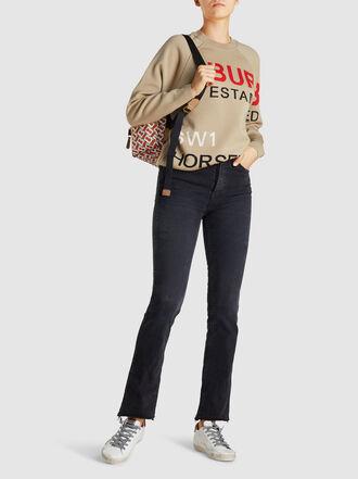 Burberry - Acheron Slogan-Intarsia Merino Wool-Blend Sweatshirt
