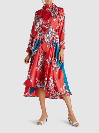 Roksanda - Zelma Printed Silk Midi Skirt