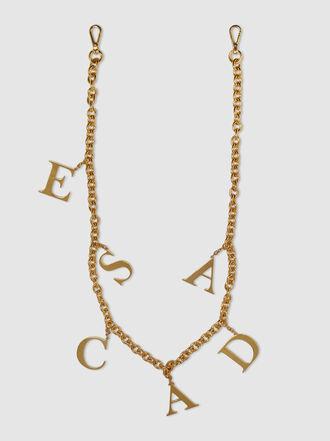 Escada - Gold-Tone Escada Letter Chain