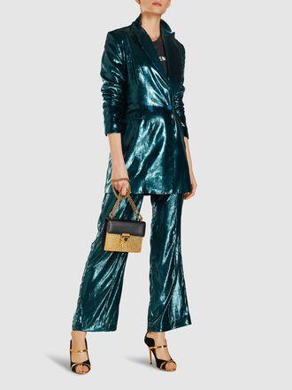 Michael Lo Sordo - Glitter Relaxed Velvet Trousers