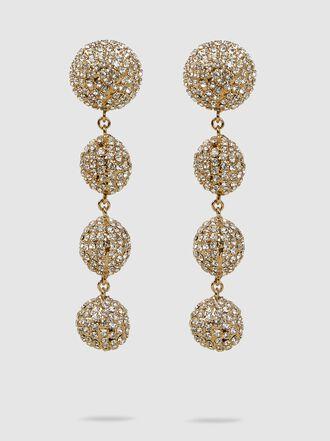 Rosantica - Strobo Crystal-Embellished Gold-Tone Earrings